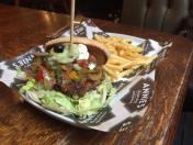 Meaty fajitah burger