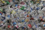 SAN FRANCISCO, CA - MARCH 15: Hundreds of recycled plastic water bottles are piled up inside the Recology recycling facility on March 15, 2011 in San Francisco, California. The multi-million dollar bottled water industry continues to prosper despite outrage from environmentalists who point out that at least half of the empty bottles end up in landfills instead of being recycled. Environmental groups are encouraging people to use reusable containers and get their water from the tap which is safe to drink in over 90 percent of the United States. (Photo by Justin Sullivan/Getty Images)
