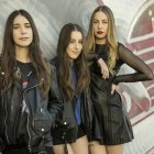 Haim stops for a portrait at KROQ's Red Bull Sound Space in Los Angeles, California, USA on 15 January 2014. // Erik Voake / Red Bull Content Pool // P-20140116-00001 // Usage for editorial use only // Please go to www.redbullcontentpool.com for further information. //