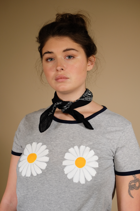 2.Daisy-Ringer-Tee-front-close-up