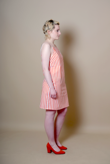 Orange-Stripe-Dress-Side